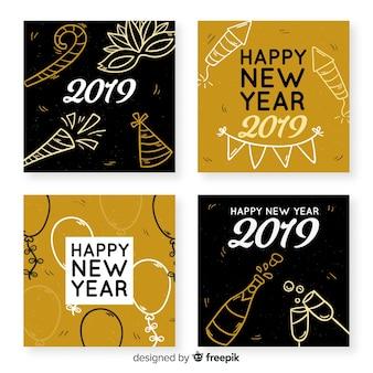 Cartolina d'auguri del nuovo anno 2019