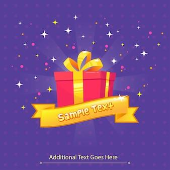 Cartolina d'auguri della confezione regalo per natale, compleanno, festival