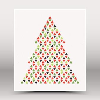 Cartolina d'auguri di buon natale e anno nuovo