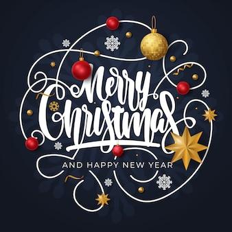 Cartolina d'auguri di buon natale e felice anno nuovo
