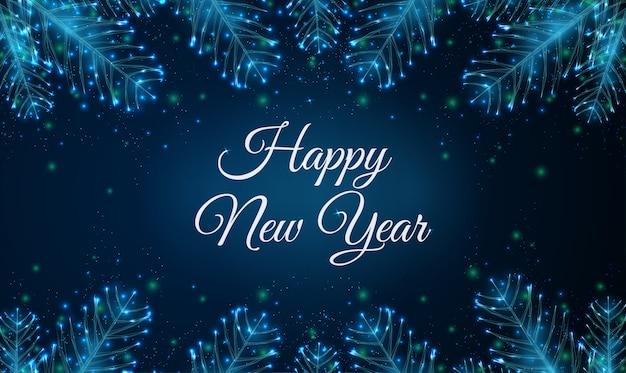 Cartolina d'auguri di felice anno nuovo astratto 2020 con rami di albero in forma.