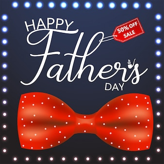 Cartolina d'auguri di felice festa del papà. illustrazione vettoriale