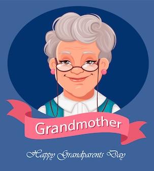 Cartolina d'auguri di felice giorno dei nonni.