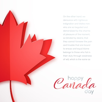 Cartolina d'auguri di felice giorno del canada.