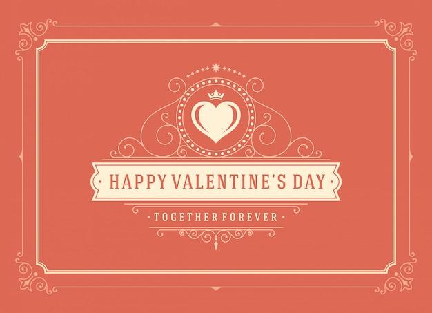 Cartolina d'auguri di felice giorno di san valentino