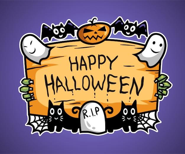Cartolina d'auguri di felice halloween