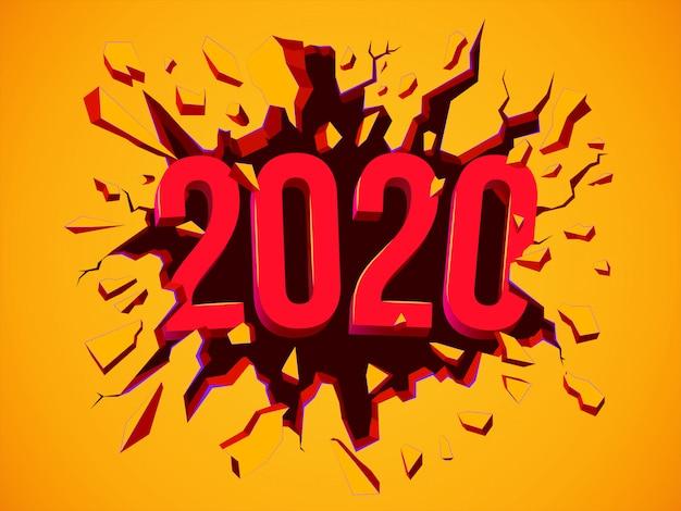Cartolina d'auguri di felice nuovo anno 2020