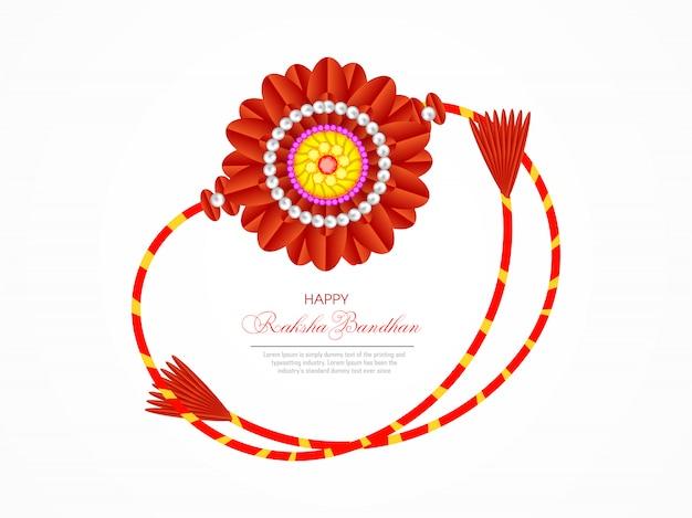 Cartolina d'auguri di felice raksha bandhan