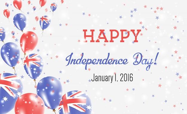 Cartolina d'auguri di festa dell'indipendenza dell'australia.