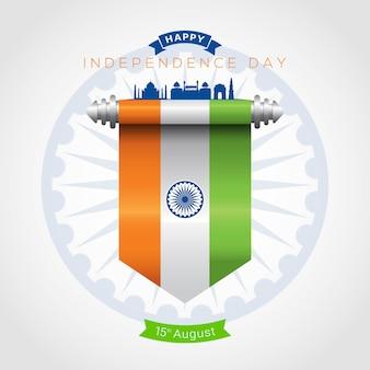 Cartolina d'auguri di festa dell'indipendenza dell'india