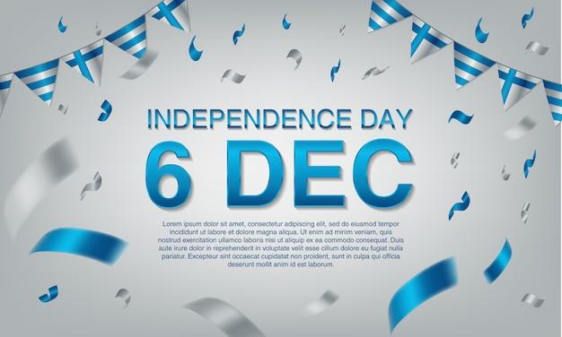 Cartolina d'auguri di festa dell'indipendenza della finlandia.