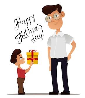 Cartolina d'auguri di happy fathers day