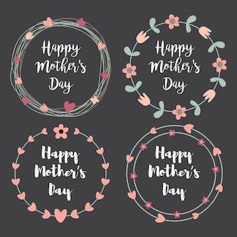 Cartolina d'auguri di happy mothers day impostato per la festa della mamma.