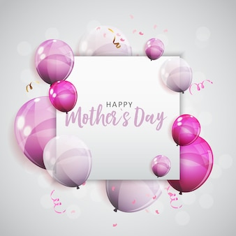 Cartolina d'auguri di happy mothers day