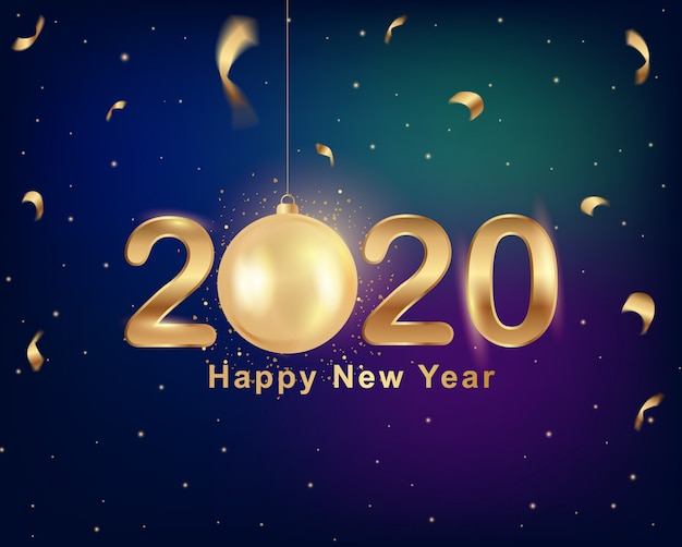 Cartolina d'auguri di nuovo anno 2020