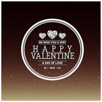 Cartolina d'auguri di san valentino felice con priorità bassa del reticolo di notte