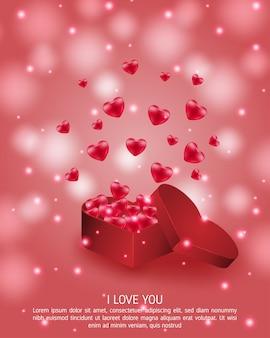 Cartolina d'auguri di san valentino