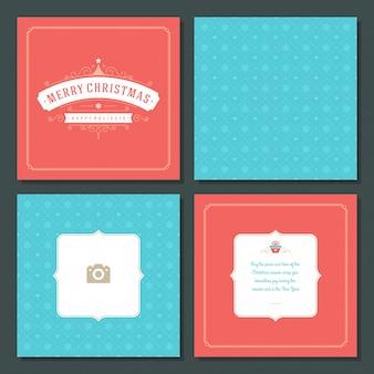 Cartolina d'auguri e modello di natale
