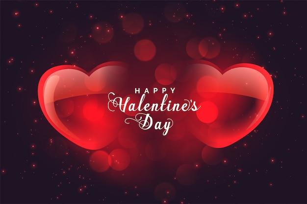 Cartolina d'auguri felice dei cuori di amore di san valentino