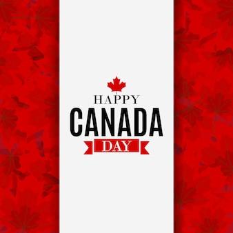 Cartolina d'auguri felice del fondo di giorno del canada. illustrazione