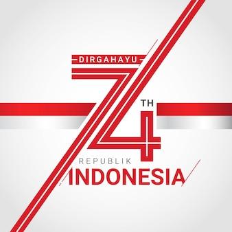 Cartolina d'auguri felice dell'indipendenza dell'indonesia
