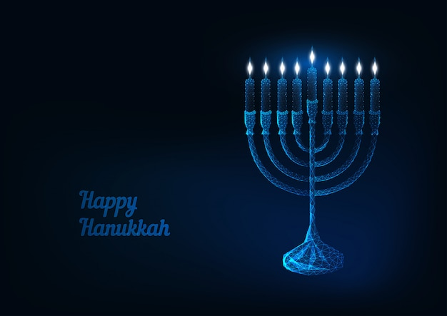 Cartolina d'auguri felice di hanukkah