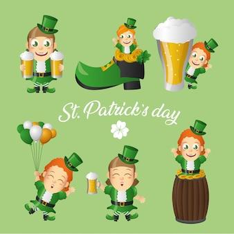 Cartolina d'auguri leprechaun irlandese