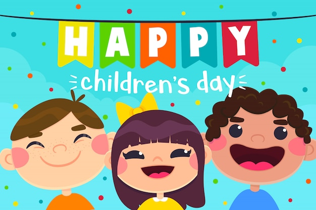 Cartolina d'auguri per bambini, personaggi per bambini