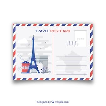 Cartolina da viaggio con monumenti