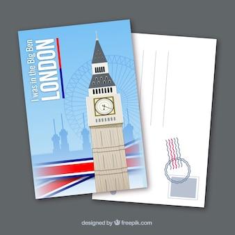 Cartolina da viaggio con paesaggio