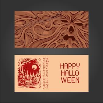 Cartolina del libro di halloween