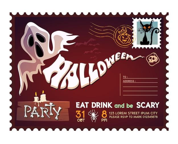 Cartolina di halloween felice.
