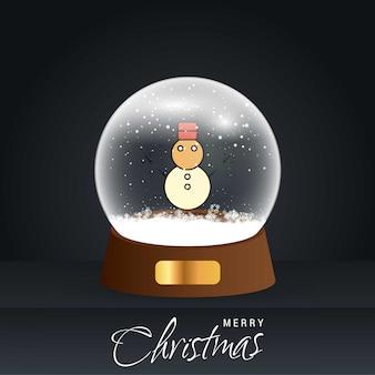 Cartolina di natale pupazzo di neve