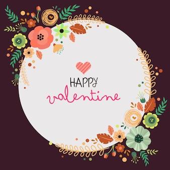 Cartolina di san valentino con fiori