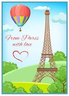 Cartolina postale di parigi