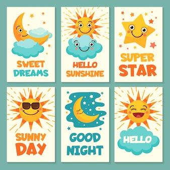 Cartoline meteo con cartone animato divertente