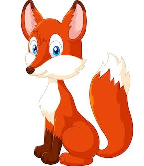 Cartone animato adorabile volpe scaricare vettori premium