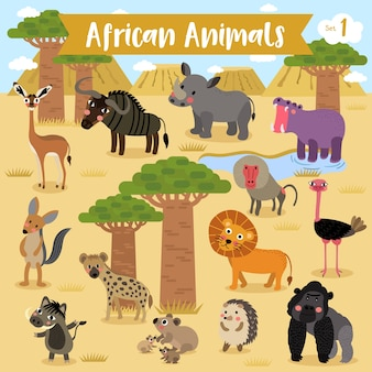 Cartone animato animale africano