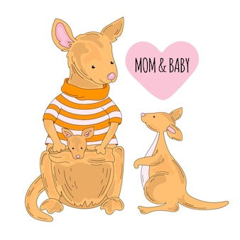 Cartone animato animale australiano