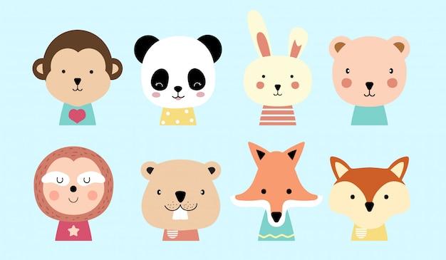 Cartone animato animale carino bambino