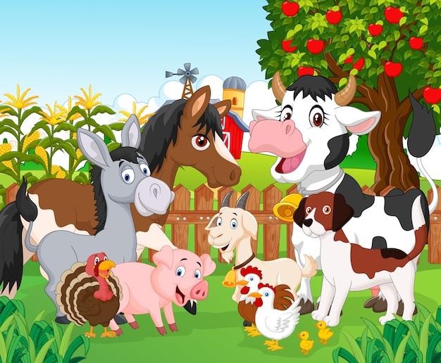 Cartone animato animale carino