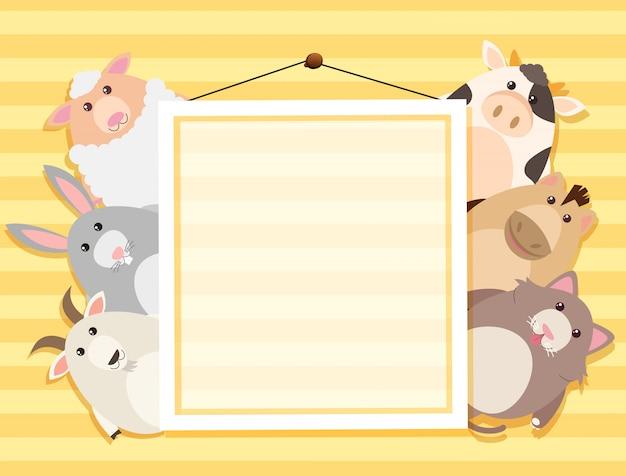 Cartone animato animale sul telaio