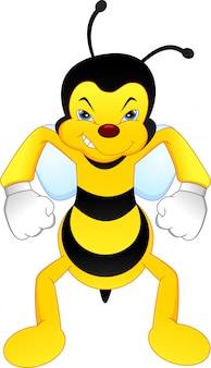 Cartone animato ape arrabbiato