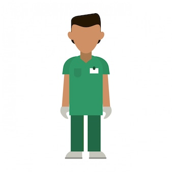 Cartone animato avatar medico