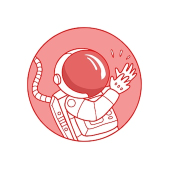 Cartone animato carino astronauta