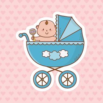 Cartone animato carino baby doccia
