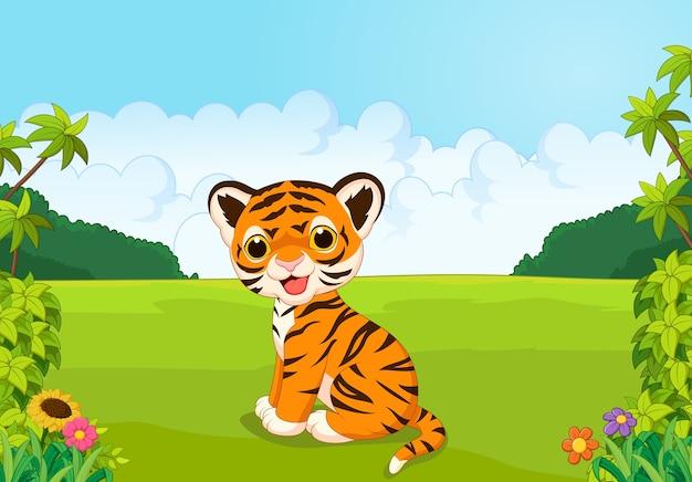 Cartone animato carino baby tigre