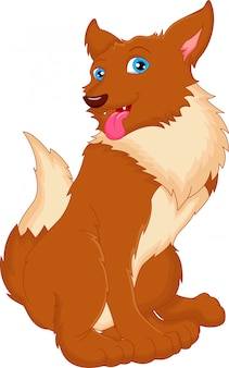 Cartone animato carino cane
