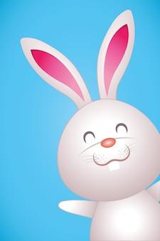 Cartone animato carino coniglio