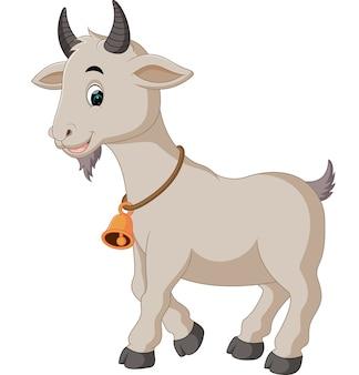 Cartone animato carino di capra